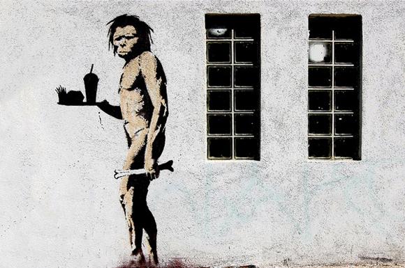 Caveman-Fast-Food-by-Banksy